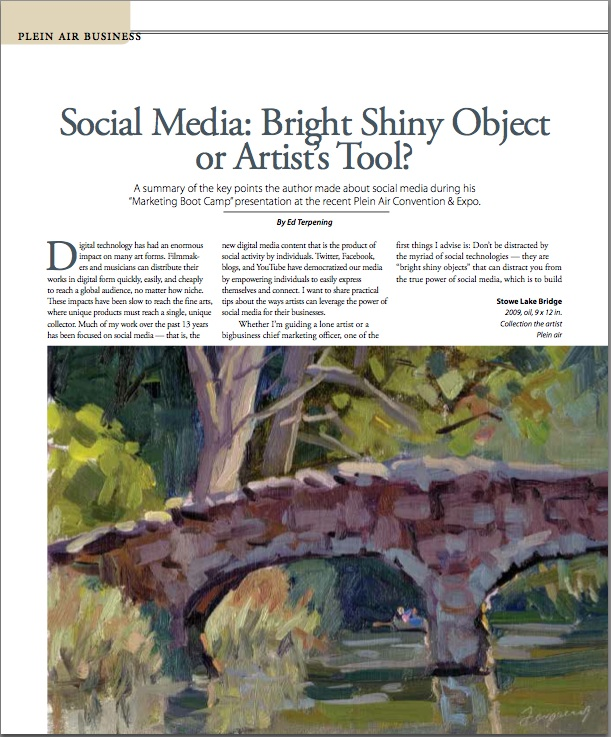 Plein Air Magazine Article Image
