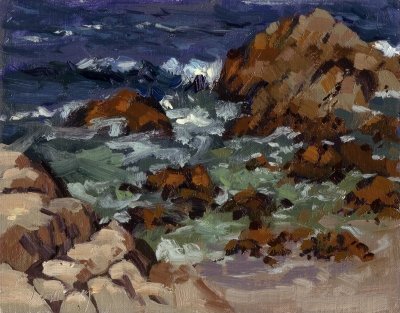 Seascape-Rocks-and-Surf-Pacific-Grove-CA