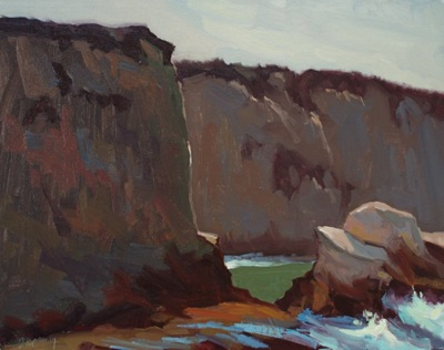 Bluffs (Montana De Oro), Oil on Linen, 16x20