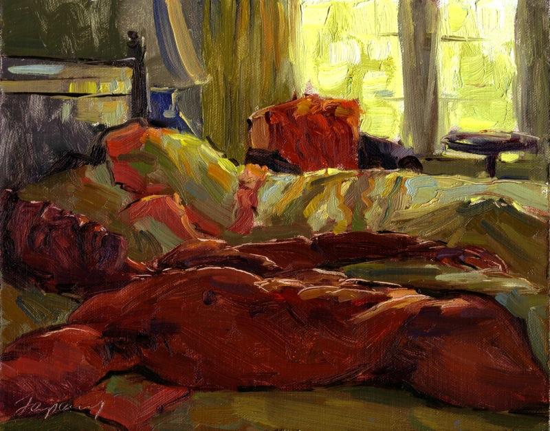Backlit Morning Bed