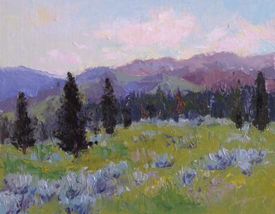 Untitled (Landscape), Oil on Linen, 11x14