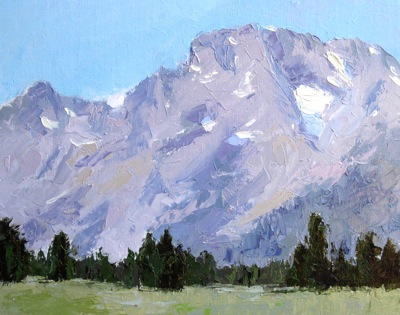 The Grand Tetons, Oil on Linen, 11x14