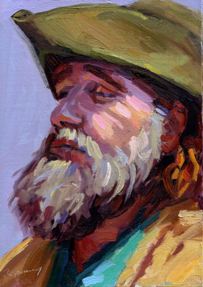 The Entertainer (Jerry Wheeler), Oil on Canvas, 12x9