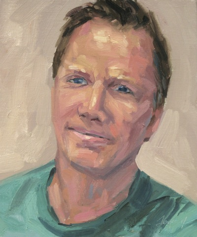 Self-Portrait, Oil on Linen, 12x10""