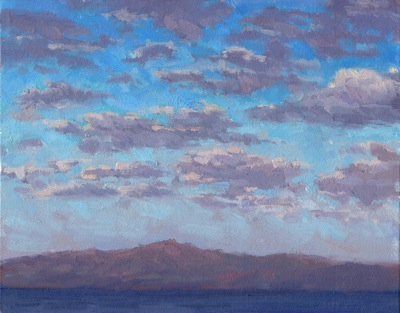 Lake Tahoe, Sunset - Oil on Canvas - 8x10