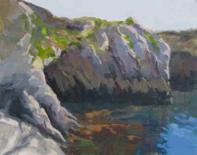 Point Lobos Bluffs, Oil on Linen, 11x14