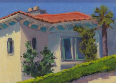Casa Del Marr, Hearst Castle - Oil on Linen - 10x12