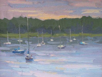 Sister Bay, Morning (QuickPaint), Oil on Linen, 11x14