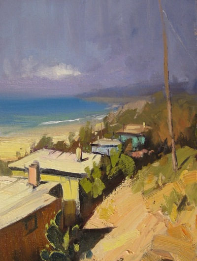 Crystal Cove (after Colley Whisson), Oil on Linen, 16x12