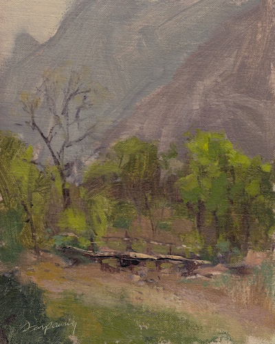 Mountain Springs State Park (Las-Vegas NV - April14, 2012), Oil on Linen, 10x8