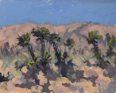 Desert Color Study, Oil on Paper, 8x10