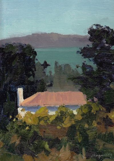Simonds Loop Presidio of San Francisco, Oil on Linen, 12x9