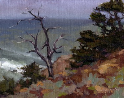 View at Sutro Baths (San Francisco), Oil on Linen, 8x10