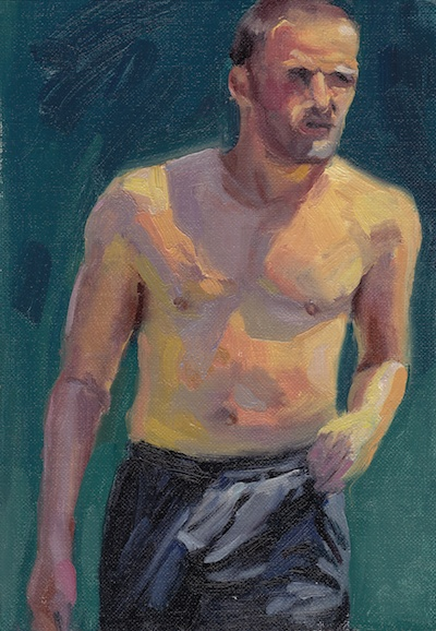 Tennis Player #2, Oil on Linen