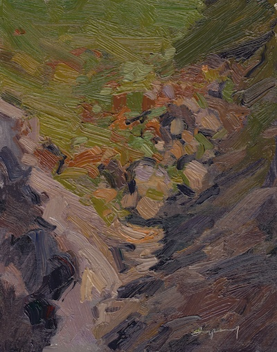 Ravine, Oil on Linen, 10x8
