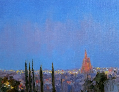 San Miguel de Allende (from Casa Schuck), Oil on Linen, 11x14