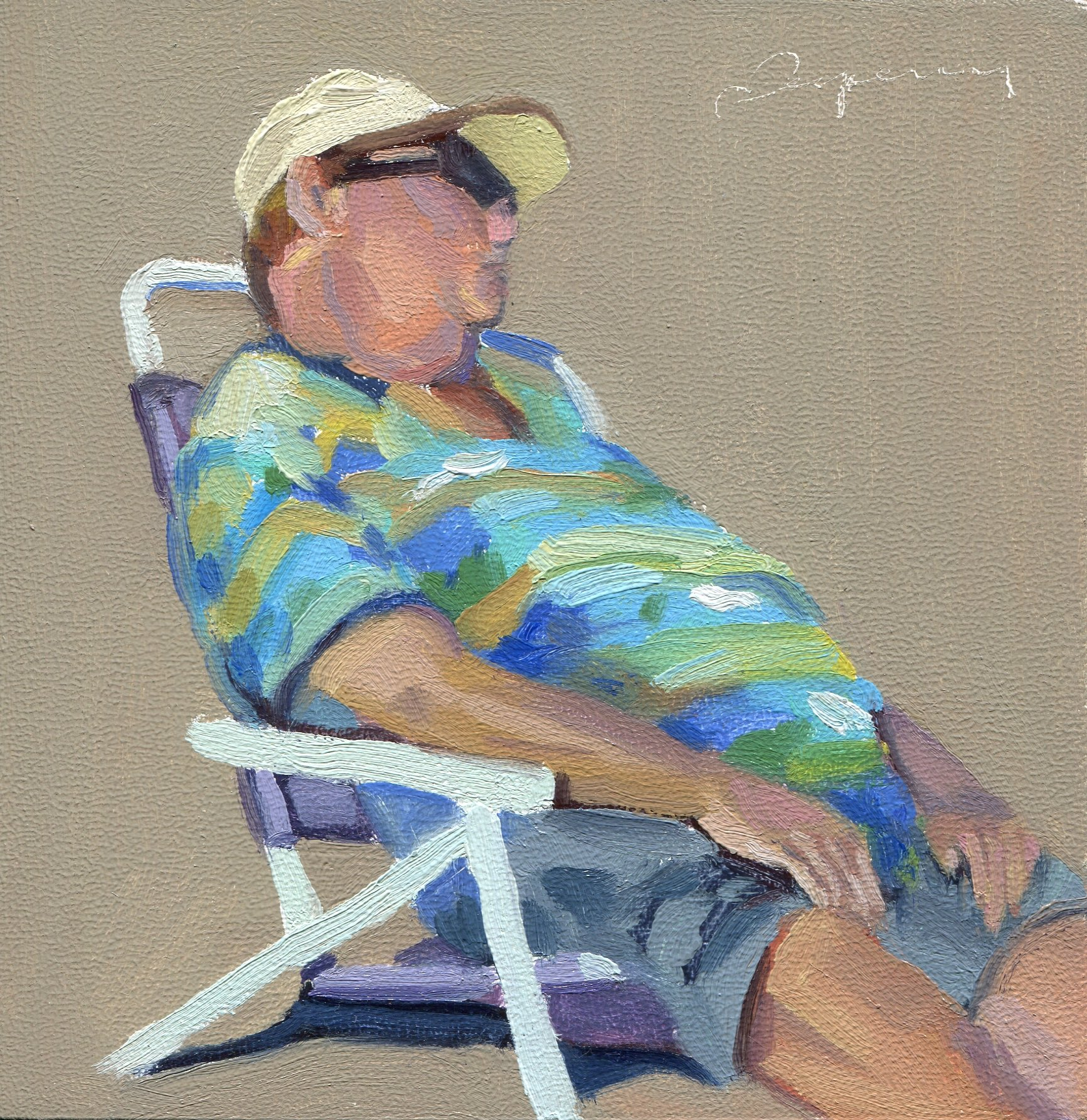 Ventura Beach Men 5 Asleep with Stripes