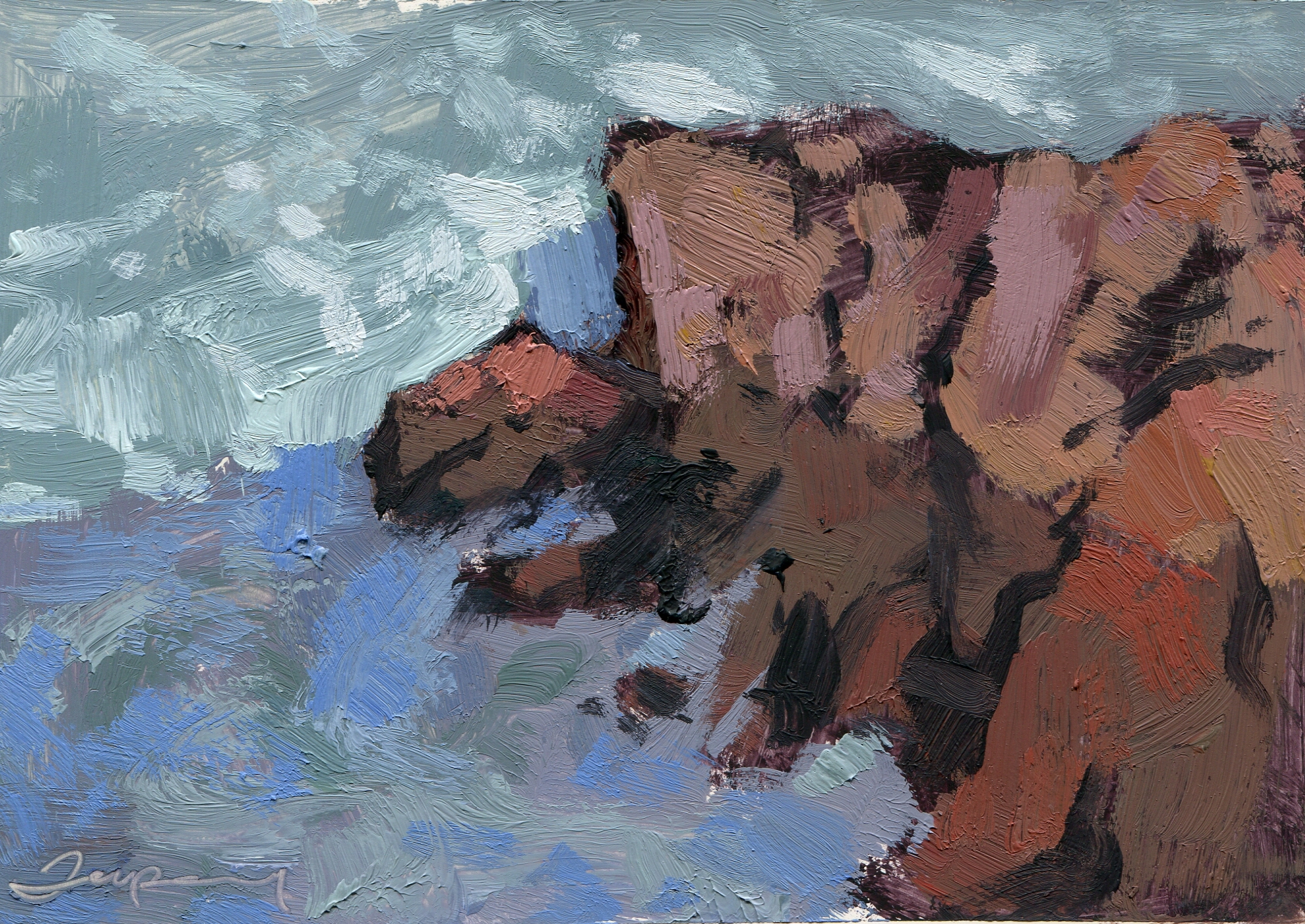 Rocks and Surf Sea Shadow Study