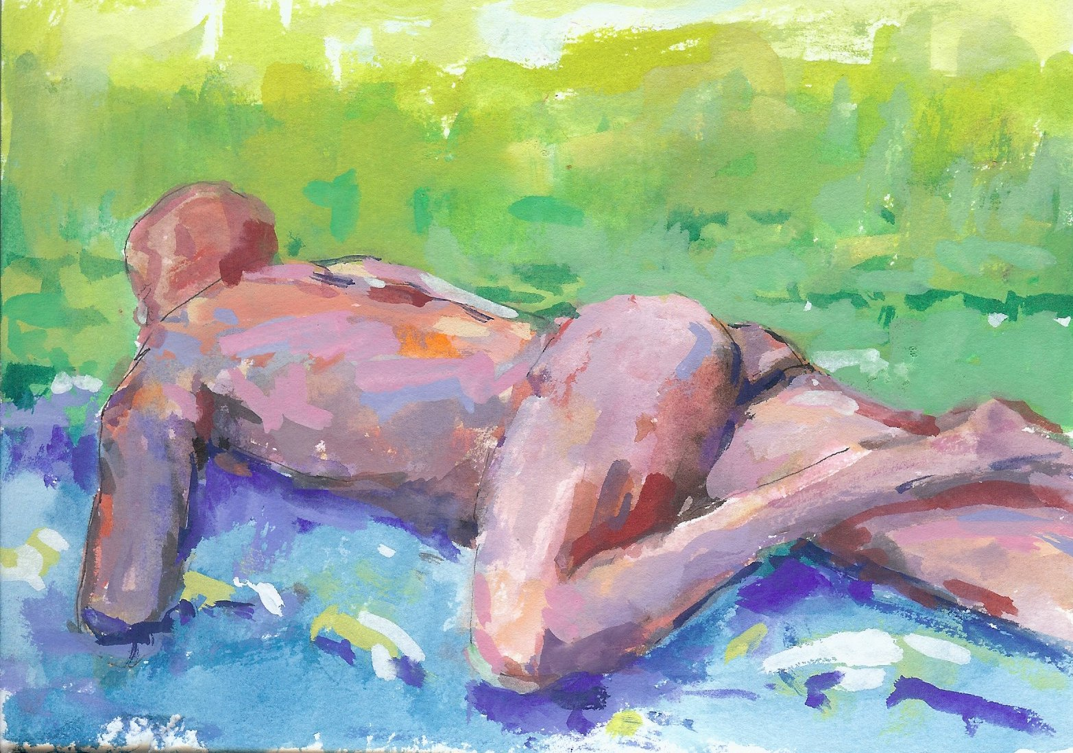 Figure with Green + Blue