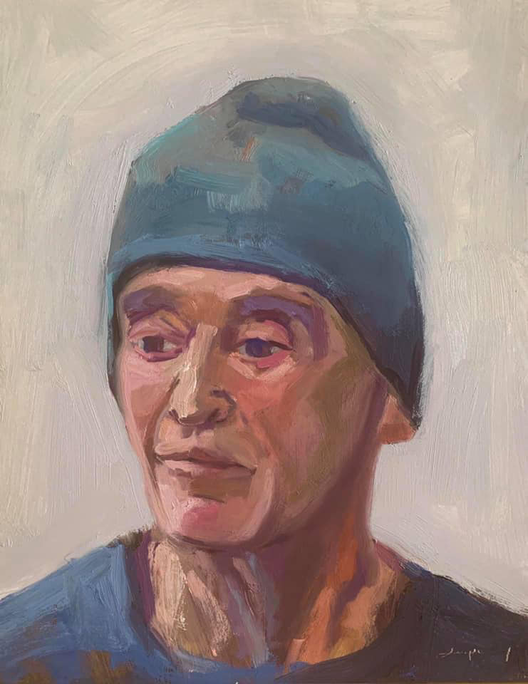 Castro Senior (Blue Beanie)