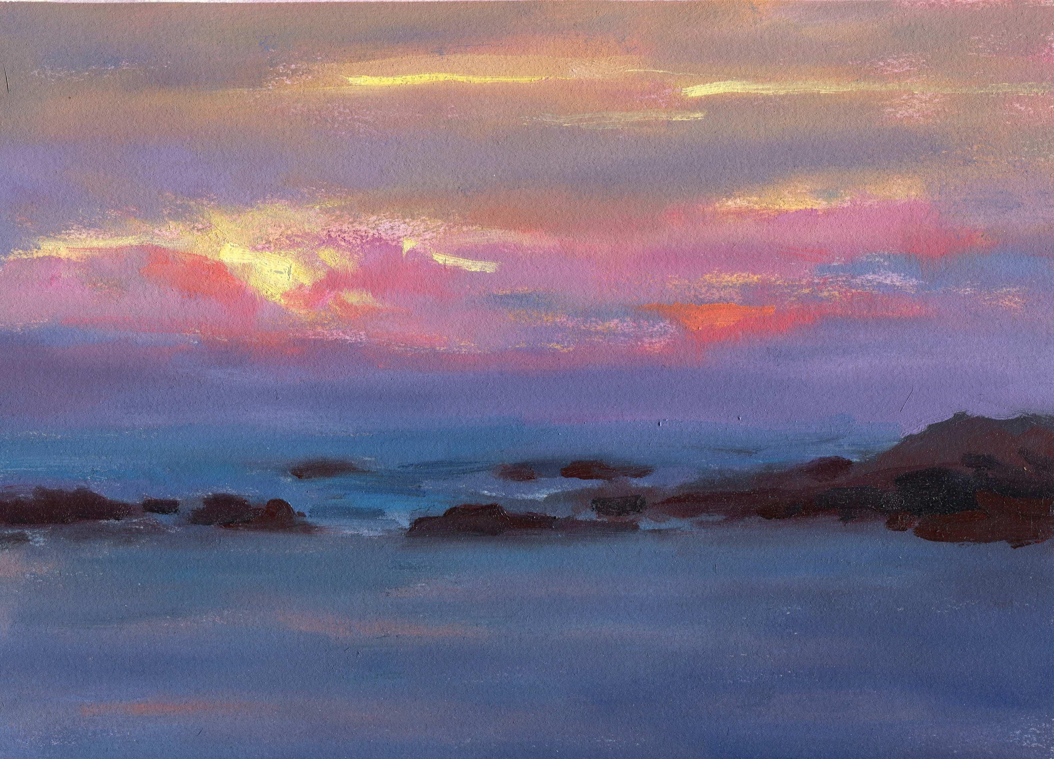 Ventura Sunset at Sea
