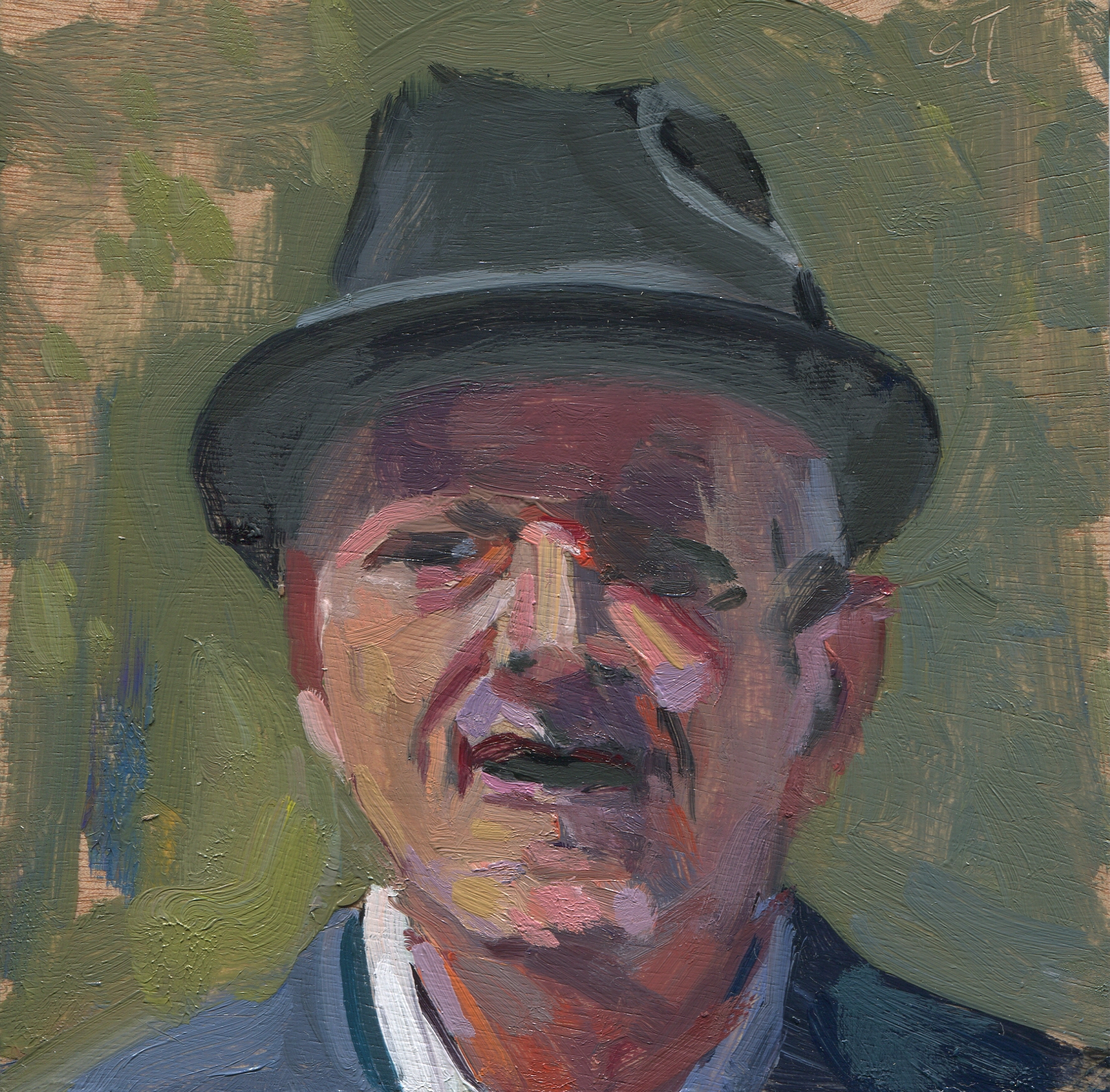 Untitled (Head with Hat)