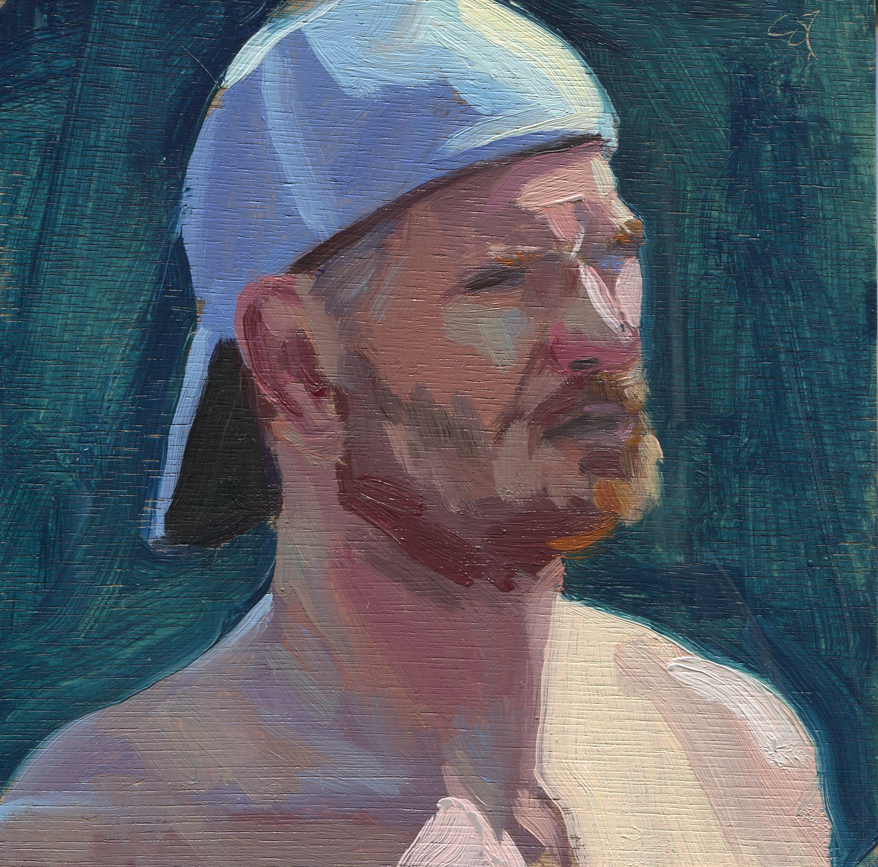 Untitled (Head with Baseball Cap)