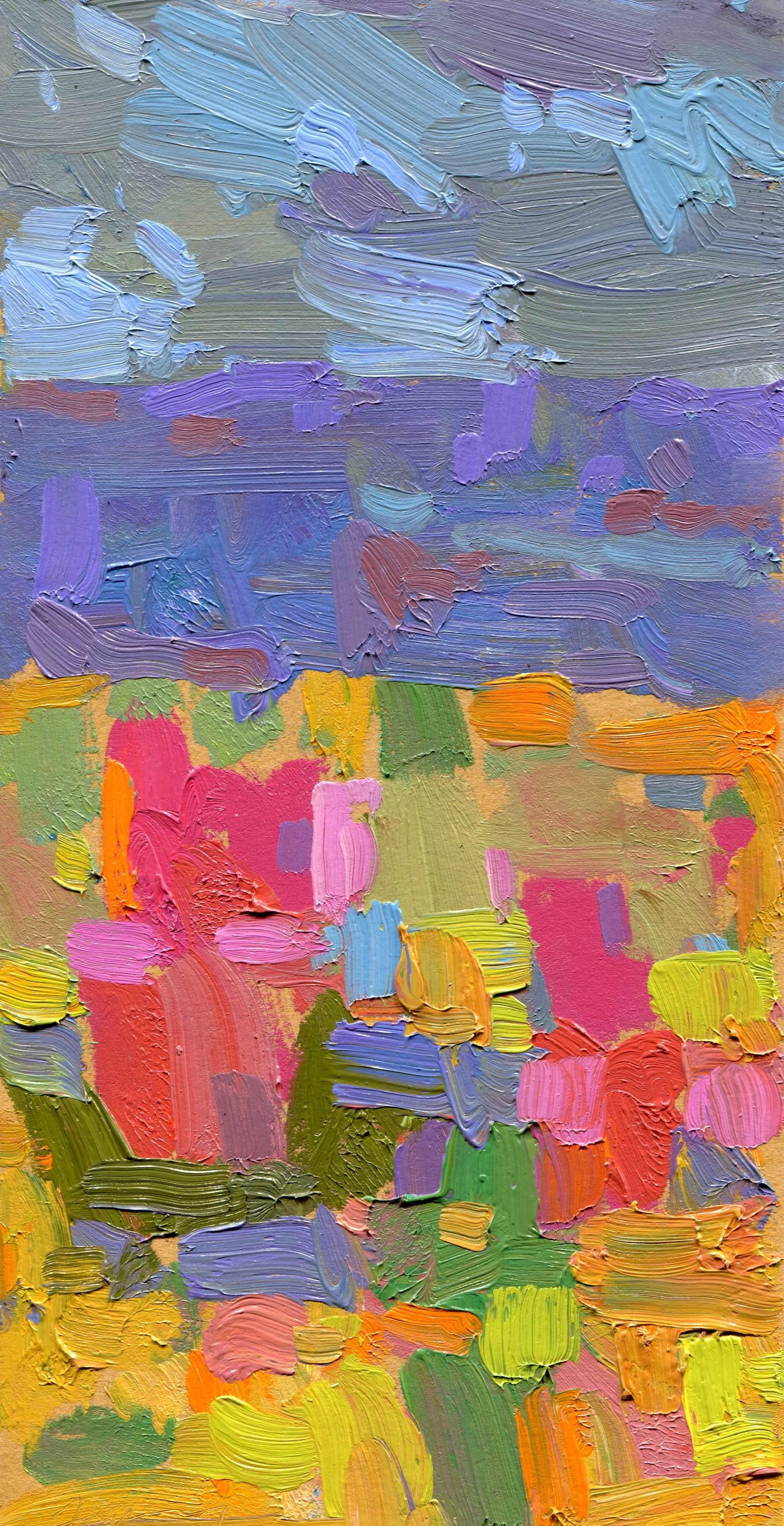 Abstract Landscape (Violet)