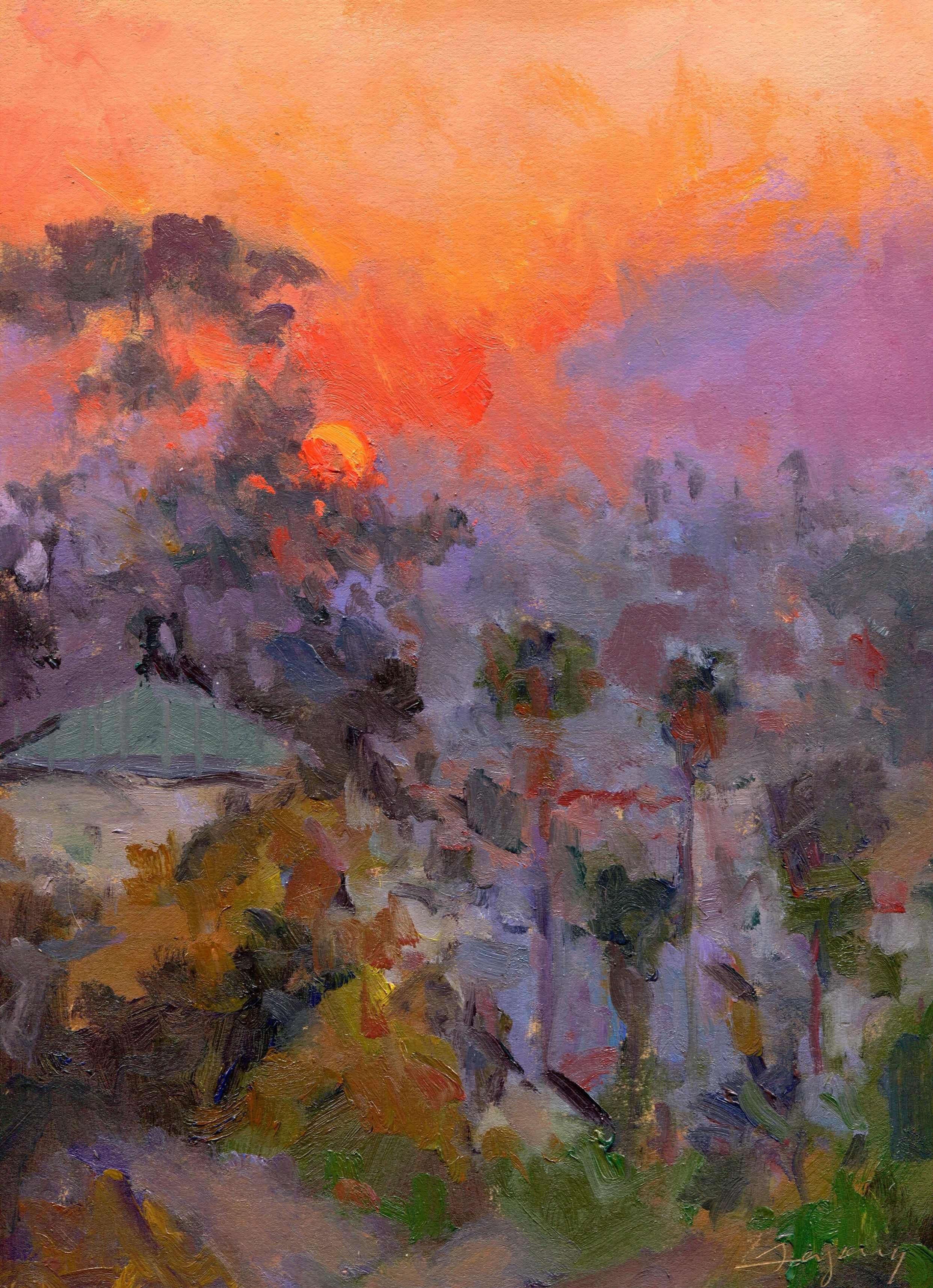 Ventura Sunrise (through Smoke)