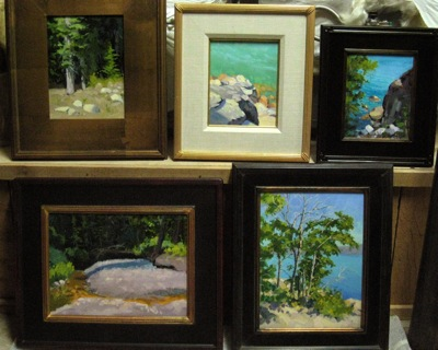 North Tahoe Plein Air Paintings - Tell me your favorite!